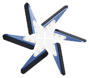 "93181 Aluminum Flex Fan, 18"" Blue Blades, Chrome Center"
