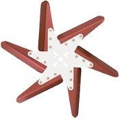 "93172 Aluminum Flex Fan, 17"" Red Blades, Chrome Center"
