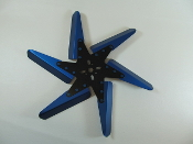 "83181 Aluminum Flex Fan, 18"" Blue Blades, Black Center"