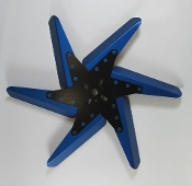 "83171 Aluminum Flex Fan, 17"" Blue Blades, Black Center"
