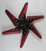 "83182 Aluminum Flex Fan, 18"" Red Blades, Black Center"