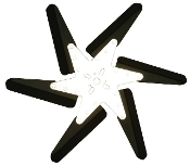 "93185 Aluminum Flex Fan, 18"" Black Blades, Chrome Center"