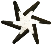 "93175 Aluminum Flex Fan, 17"" Black Blades, Chrome Center"
