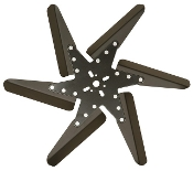 "83185 Aluminum Flex Fan, 18"" Black Blades, Black Center"
