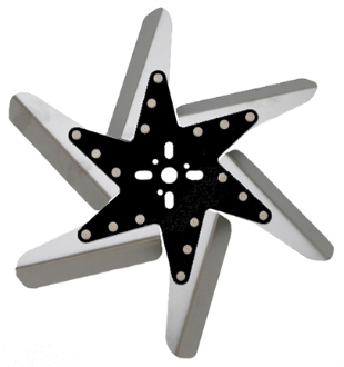 "84150 Stainless Steel Flex Fan, 15"" Black Center"