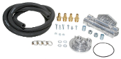 "10710 Standard Oil Filter Relocation Kit (dual), 1-1/2""-16"