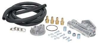 "10756 Standard Oil Filter Relocation Kit (dual), 1""-16"