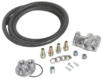 "70955 Deluxe Oil Filter Relocation Kit (single) 1""-12 thread"