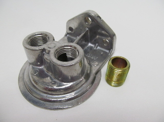 "1213 Single Filter Mount, 1/2"" NPT Ports up, 13/16""-16 Thread"