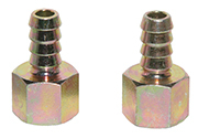 "15265 Hose Barb Fitting, 11/32"" HB x -6AN (female) (2)"